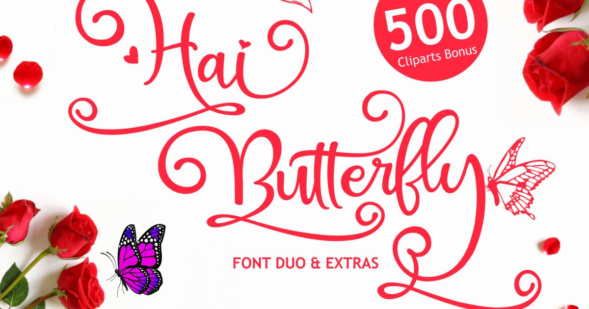 Download Hai Butterfly - Handcrafted Font Extra Swashes by CocoTemplates