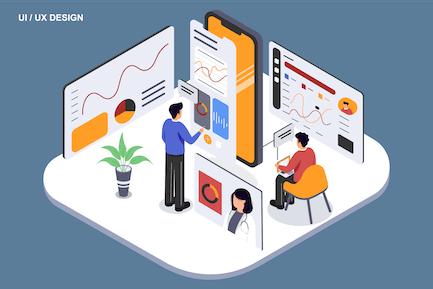 UI UX Designer - Ilustration Template