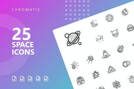 Space Chromatische Icons