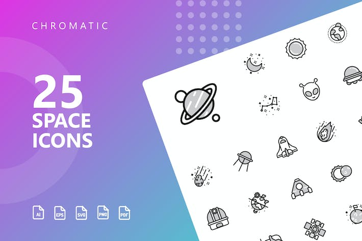 Thumbnail for Space Chromatische Icons