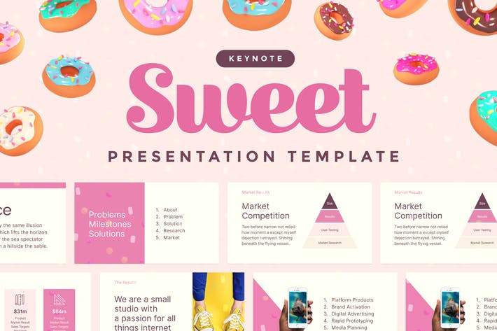 Thumbnail for Sweet — Keynote Presentation Template