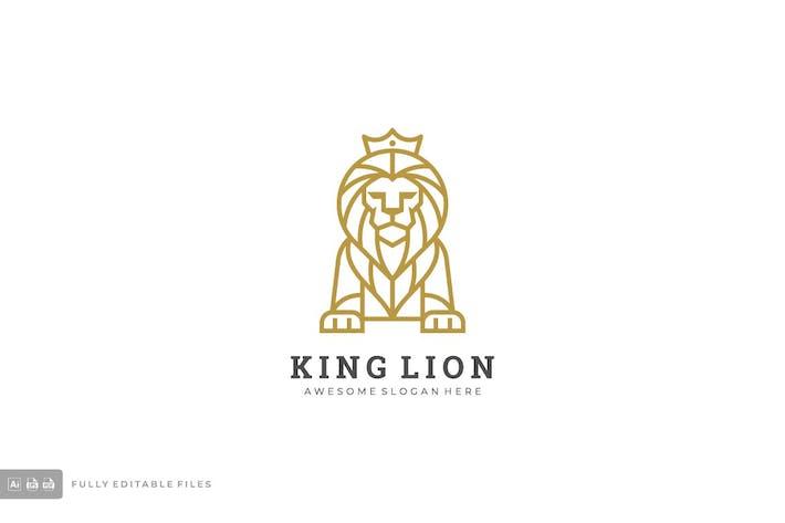 Thumbnail for Lion Line Art Style Logo Template