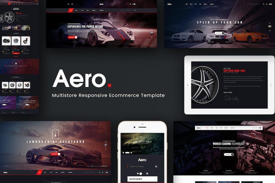 Aero - Car Accessories Opencart 3.x Theme