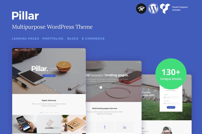 Thumbnail for Pillar - Multi-Concept Responsive WordPress Theme