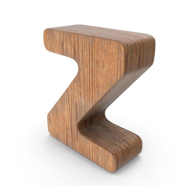 Z Деревянная буква