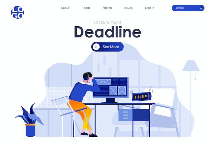 Thumbnail for Work Deadline Landing Page Flat Concept