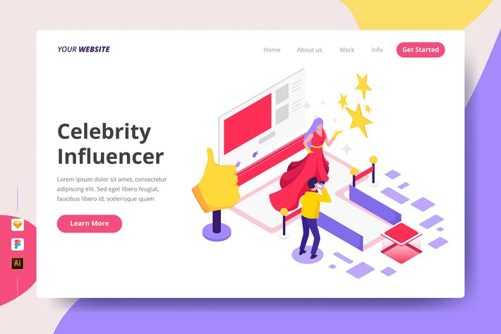 Thumbnail for Celebrity Influencer - Landing Page