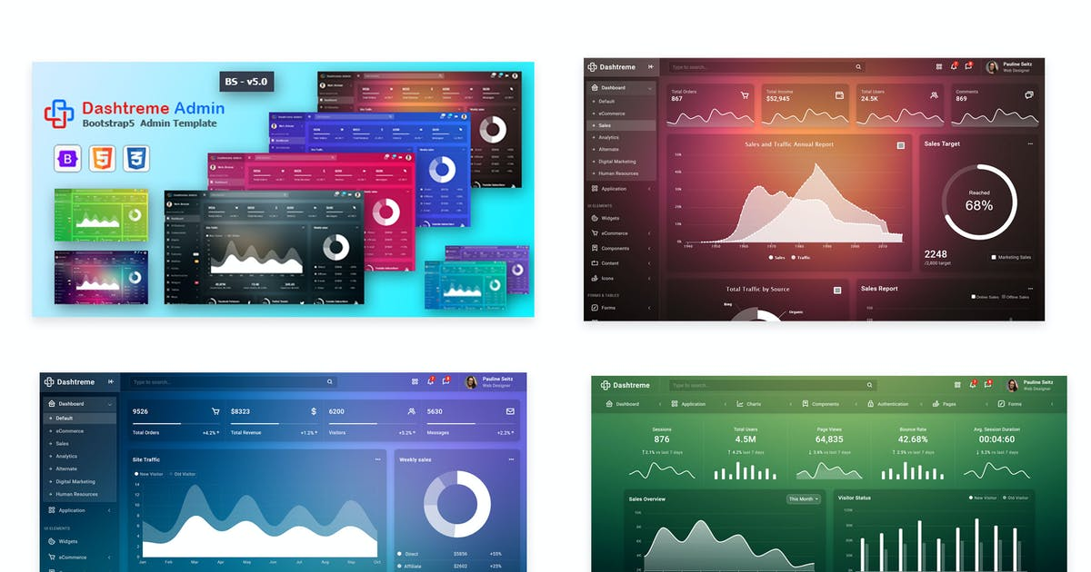 Download Dashtreme - Multipurpose Bootstrap5 Admin Template by codervent