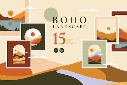 Boho Landscape Set