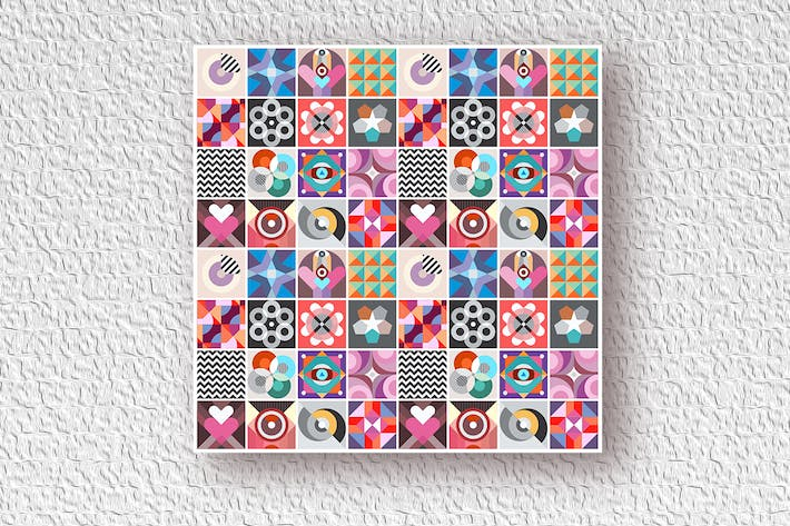 Thumbnail for Abstract Geometric Patterns vector design