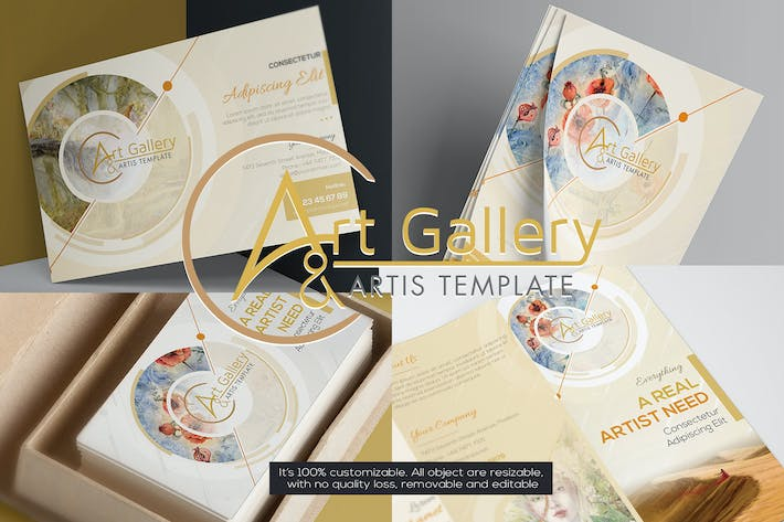 Thumbnail for Art Gallery & Artist - Sets Template