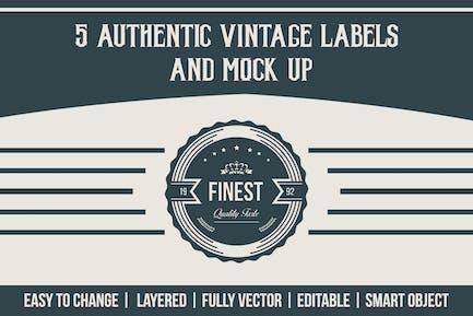 Authentische Vintage-Etiketten