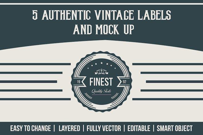 Authentic Vintage Labels