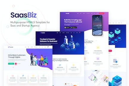 SaasBiz - Saas Startup HTML Template
