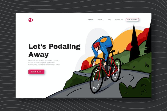 Thumbnail for Lets Pedaling Away - Landing Page