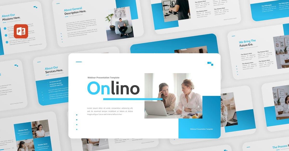 Download Onlino - Webinar Business PowerPoint Template by puricreative