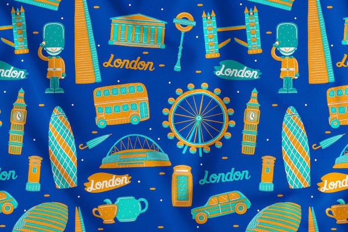 Thumbnail for London Seamless Pattern