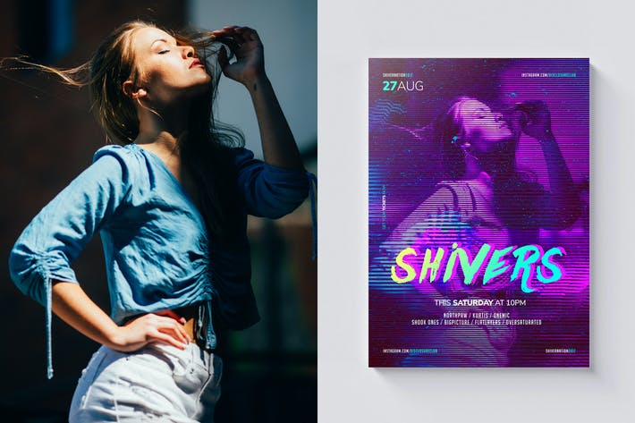 Thumbnail for Shivers Poster / Flyer Template