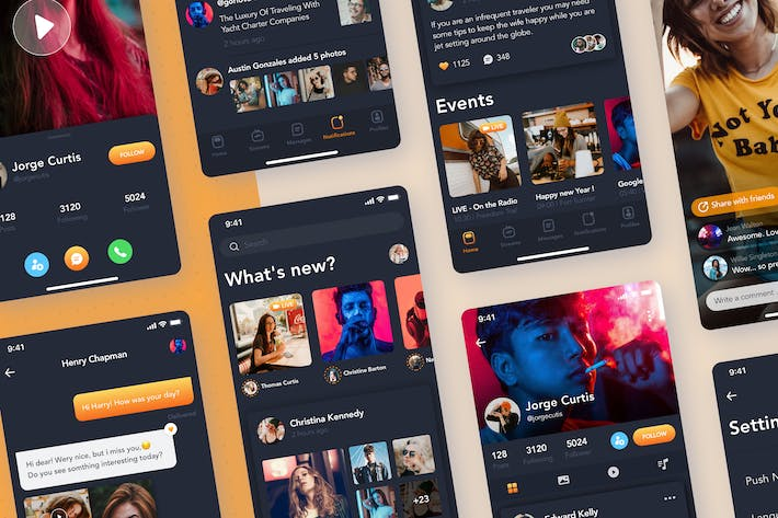 Thumbnail for Video streaming - Social mobile UI concept