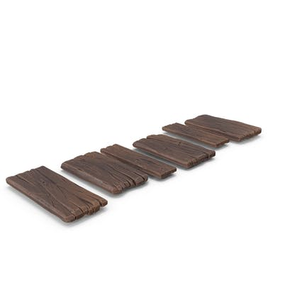 Stylized Wooden Pathway