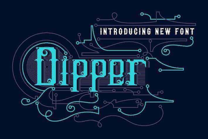 Thumbnail for DIPPER - Blackletter font