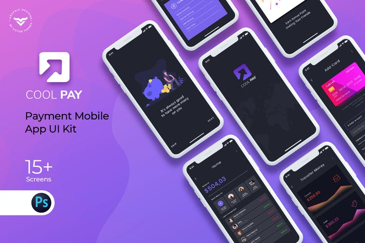 Thumbnail for Cool Pay Payment Mobile App UI Kit