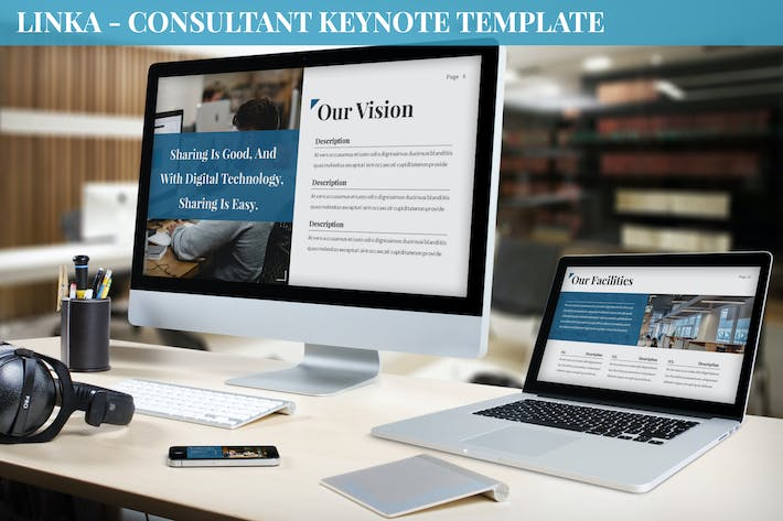 Thumbnail for Linka - Consultant Keynote Template