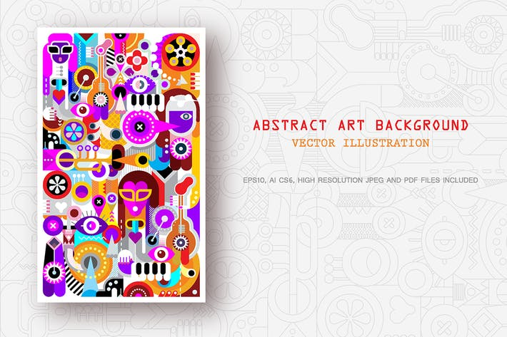 Thumbnail for Abstract art vector background + Human Head