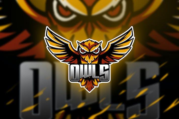 Thumbnail for owls - Mascot & Esport Logo