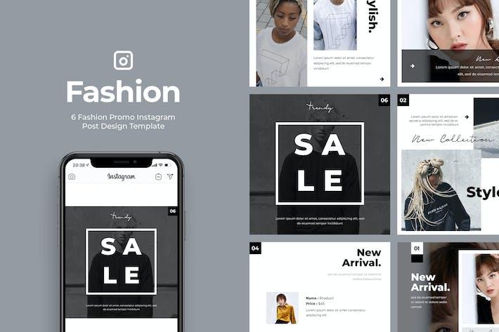 Thumbnail for 6 Promo Fashion Instagram Post Vol.3