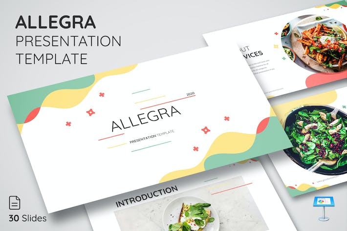 Thumbnail for ALLEGRA - Keynote Presentation Template