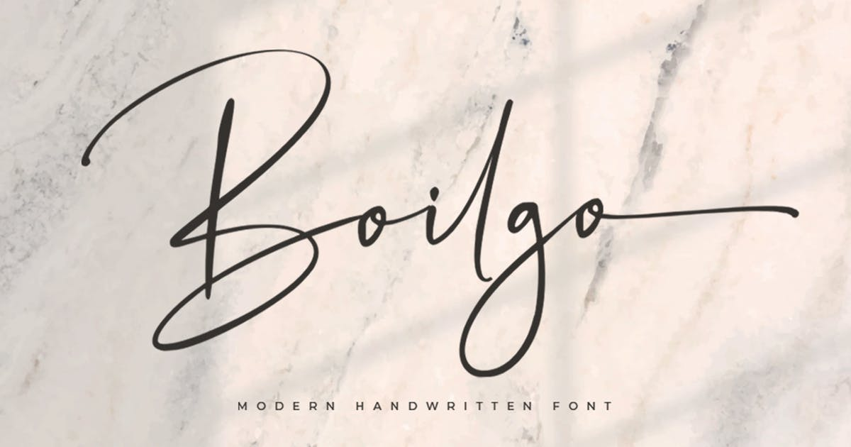 Download Boilgo Signature Font by vultype