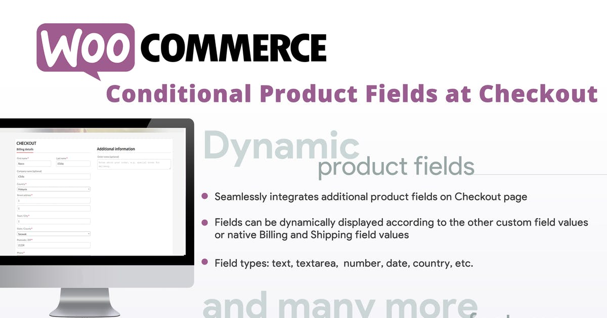 Download WooCommerce Conditional Product Fields at Checkout by vanquish