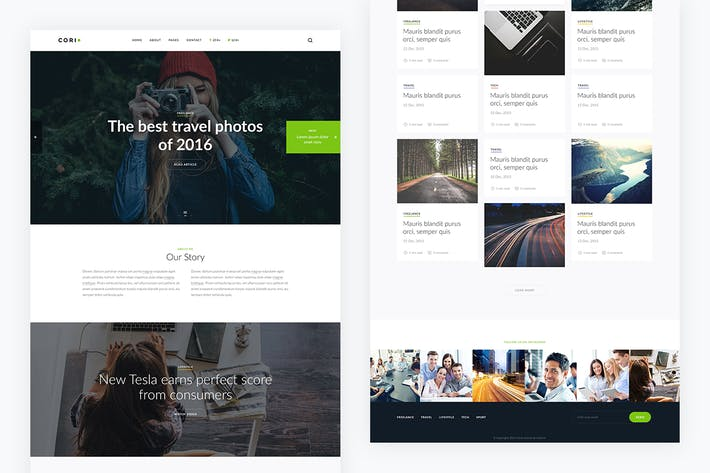 Thumbnail for Corio — Blog PSD Template