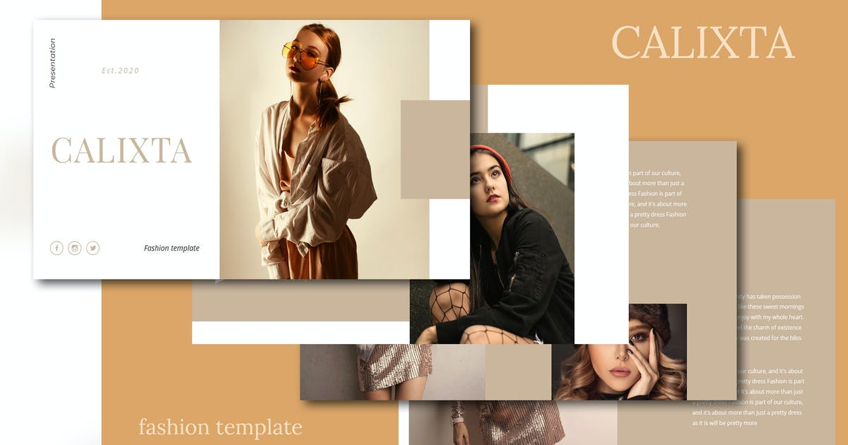 Download Calixta - Fashion Keynote Template by raseuki