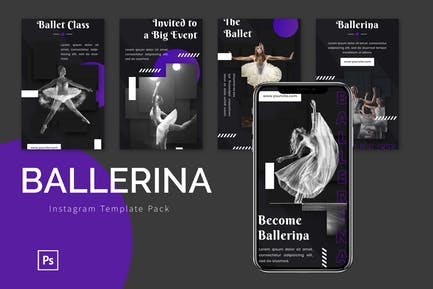 Ballerina - Instagram Template Pack