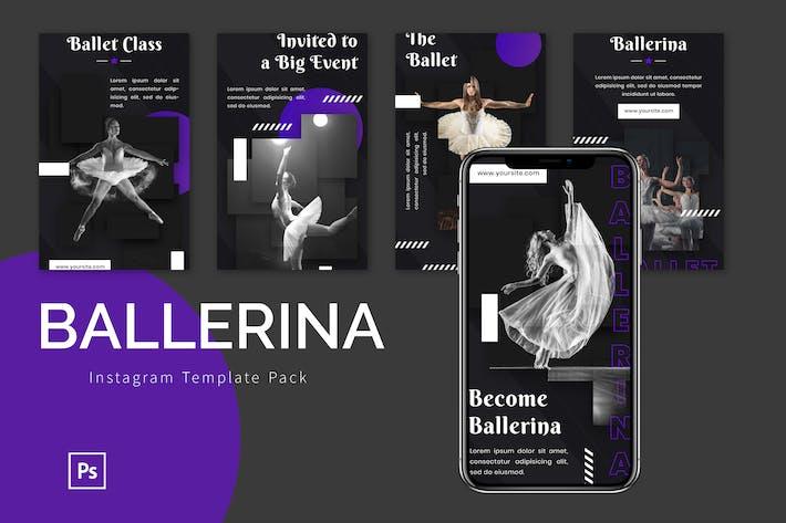 Thumbnail for Ballerina - Instagram Template Pack