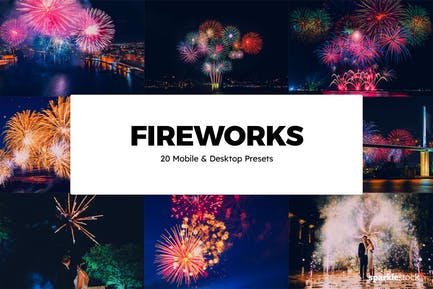 20 Fireworks Lightroom Presets & LUTs