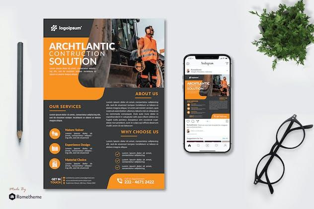 Archtlantic Contruction - Flyer and Instagram KF