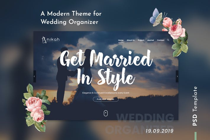 Thumbnail for Nikah | Wedding Organizer & Planner PSD Template