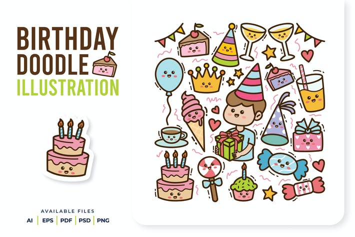 Garabato de cumpleaños