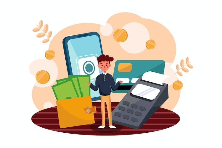 Konzept der Vektor illustration der Zahlungsmethode