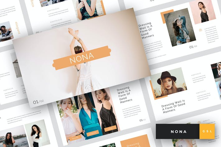 Thumbnail for Нона - Мода Google Слайды Шаблон
