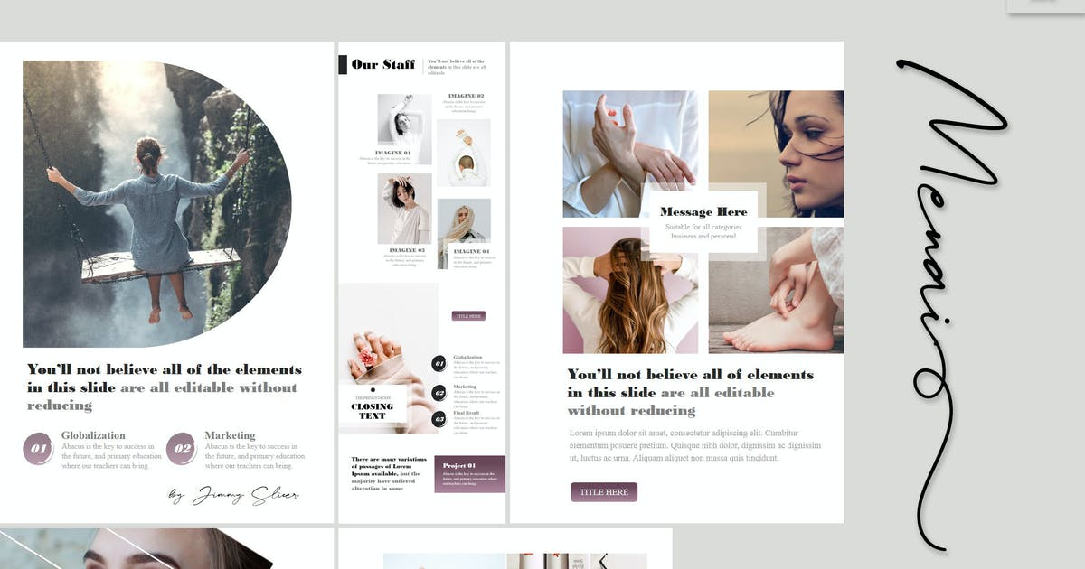 Download Menai - A4 Powerpoint Template by Artmonk