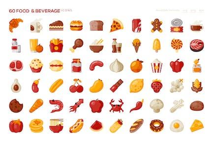 60 Food & Beverage Icons