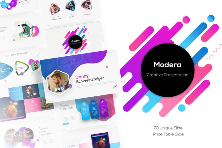 Thumbnail for Modera - Creative Presentation Template