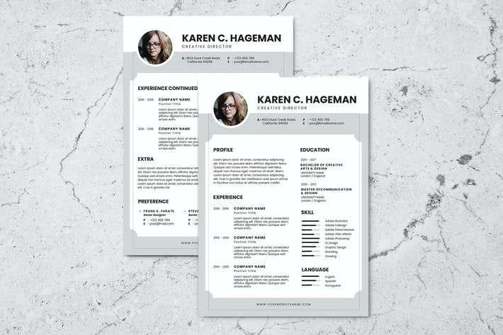 Thumbnail for Clean Minimalist CV Resume AI and PSD Flyer Vol.2
