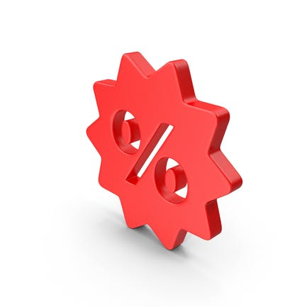 Sale Discount Red Web Icon