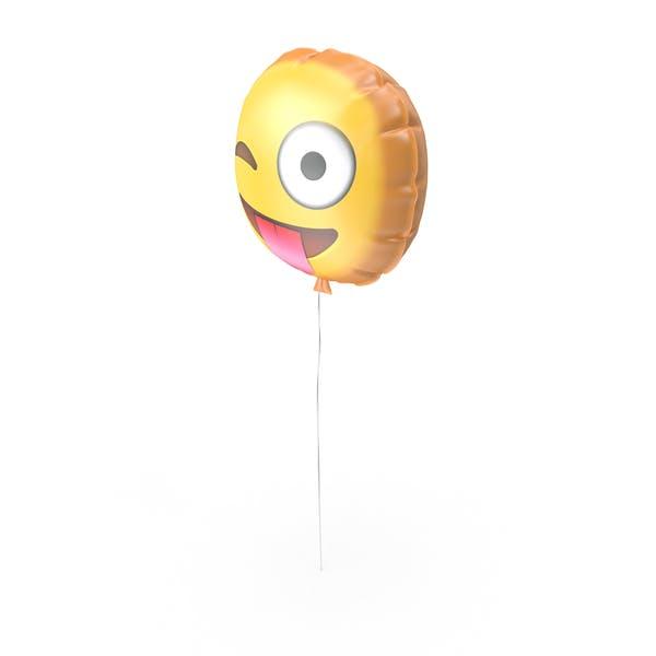 Lengua Fuera Emoji Balón