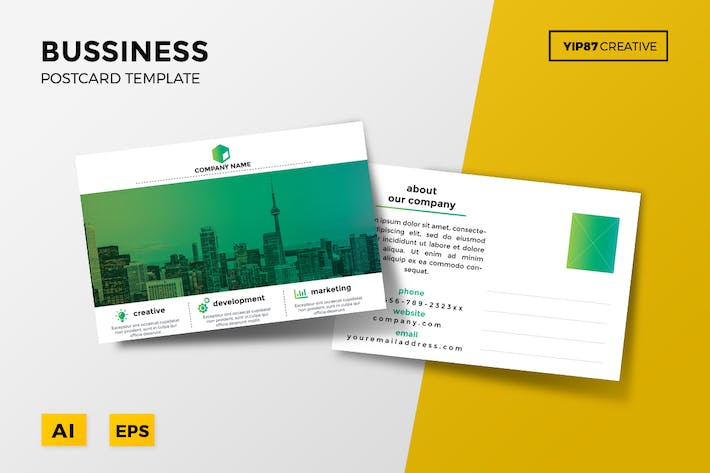 Thumbnail for Business Postcard